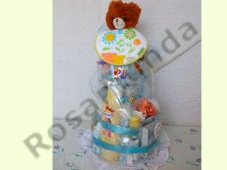 Manualidades e ideas para Baby Shower: pañalera